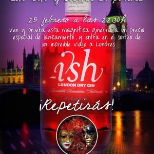 Cartel fiesta promocional ginebra Ish