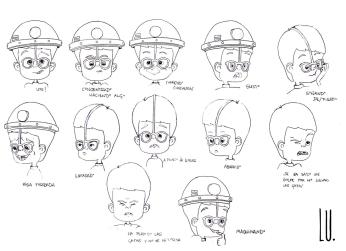 Diseño del personaje Mario. Gestos 2