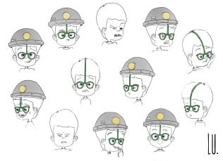 Diseño del personaje Mario. Gestos