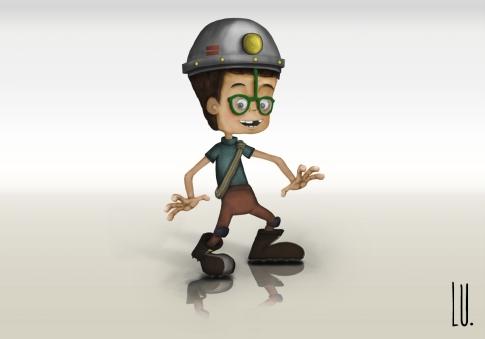 Diseño del personaje Mario. Modelo final