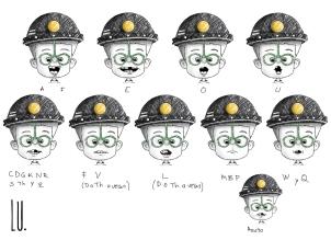 Diseño del personaje Mario. Vocalización